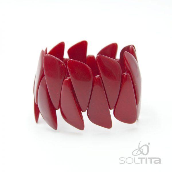 bracelet rouge en ivoire végétal (tagua, corozo) SOLTITA