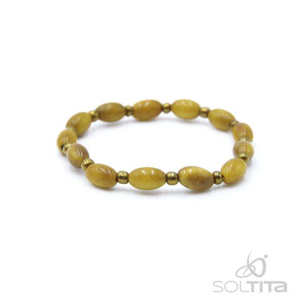 bracelet jaune en ivoire végétal (tagua, corozo) SOLTITA